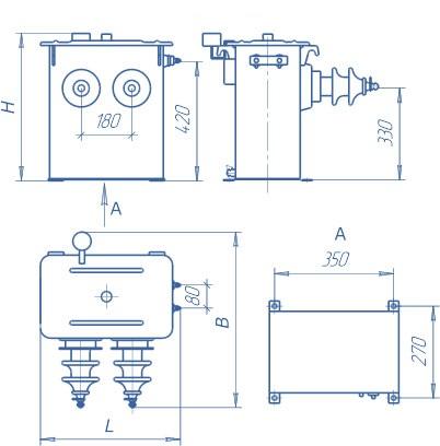 Трансформатор типа ОМП-10/(6)